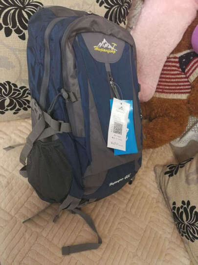 户外尖锋(HU WAI JIAN FENG) 户外旅行背包男女登山包大容多功能双肩包书包 绿色  40L 晒单图