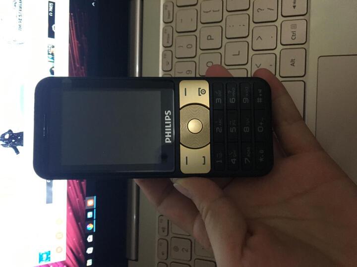 飞利浦(PHILIPS) E180 香槟金 时尚直板 超长待机 移动联通2G 双卡双待 老人手机 学生备用功能机 晒单图