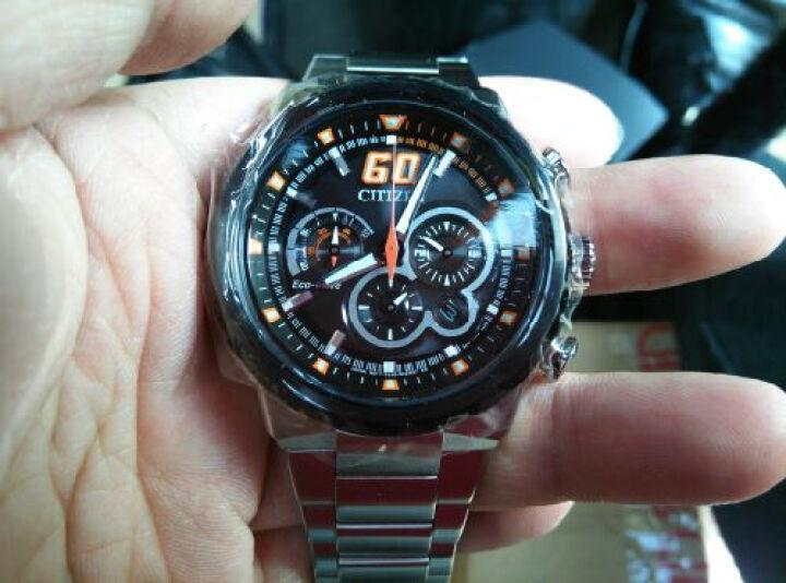 西铁城(CITIZEN)手表 光动能橙色秒针运动款计时男表CA4134-55E 晒单图