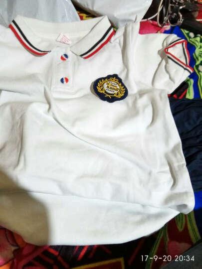 校服套装2017夏季新款英伦学院风中小学生校服幼儿园服罗纹恤短裤裙子两件套男女童同款 白色女款 110 晒单图