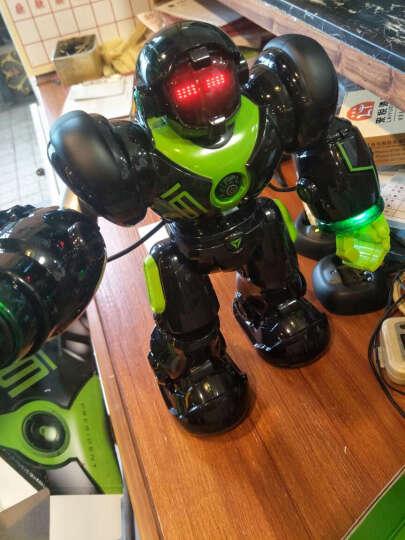 盈佳新威尔机械战警5088智能机器人儿童早教学习机电动玩具会唱歌跳舞互动智能玩具遥控机器人 黑色充电版-大型35cm机械战警 晒单图