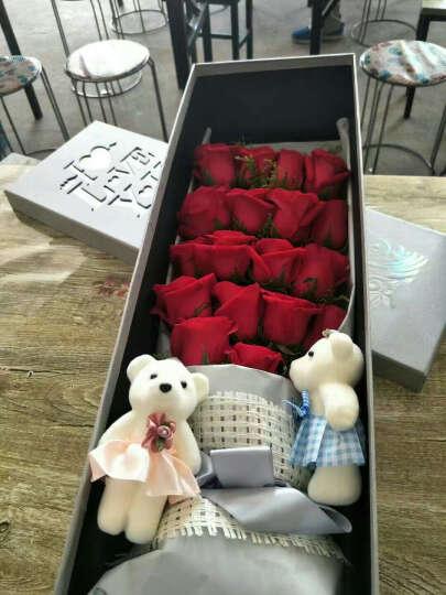 (真花)鲜花北京当天同城鲜花速递19朵红玫瑰全国同城鲜花礼盒情人节表白指日期送达花束送爱人花店 19朵戴安娜 晒单图
