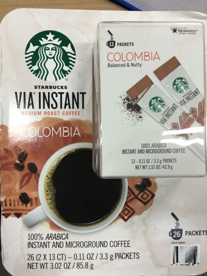 NutroVape 美国STAR BUCKS星巴克VIA速溶咖啡哥伦比亚无糖黑咖啡26条 限时特价星巴克VIA速溶咖啡*1 晒单图