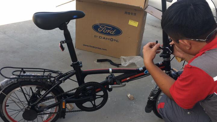 Ford 福特折叠自行车 16寸轻便通勤 学生 男女士休闲单车 大行出品YRA611 亮黑 晒单图