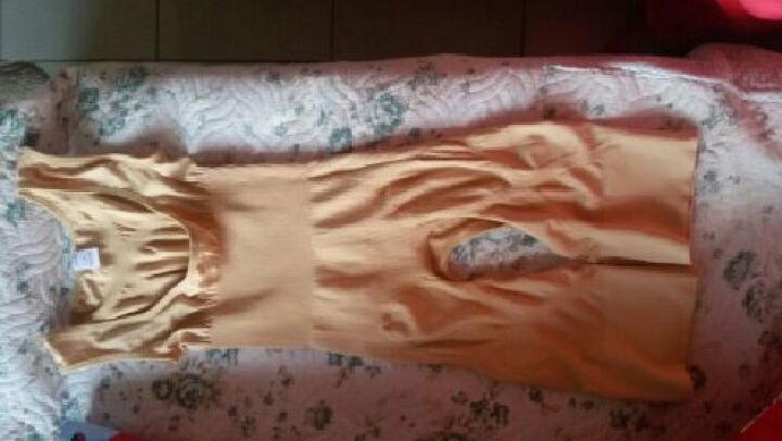 微纤诺竹炭纤维吸汗透气魔法束身衣 紧身隐形美体塑身连体衣 产后塑身收腹超弹纤体收腹束腰衣 米色 L-XL 晒单图