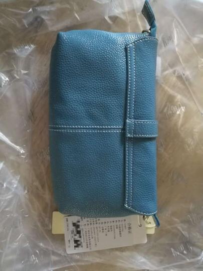 Viney女包手提包包2018秋季新款潮女韩版牛皮斜跨包小包单肩包斜挎包 中国红 晒单图