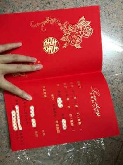 (20本装)物有物语 结婚请柬喜帖 个性创意中式中国风蝴蝶结硬壳对折式个性婚礼邀请函请帖婚庆用品 竖版 手写款(20本装) 晒单图