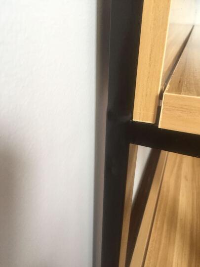 卡特波罗 货柜货架钢木展示书柜书架精品展示架隔断陈列柜仓储置物钢木货架杂货架定制 黑架+浅胡桃色板 五层80*30*182 晒单图