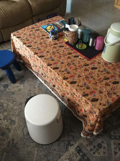 乐唯仕波西米亚民族风桌布套装欧式田园桌布布艺棉麻地中海台布茶几布 贝蒂果尔红 140cm*220cm(适用稍大餐桌) 晒单图