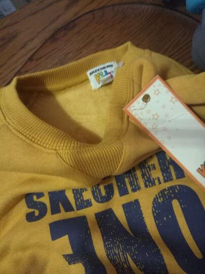 斯凯奇(Skechers)男童上衣 儿童休闲运动服 舒适柔软套头卫衣 蓝色 130cm 晒单图