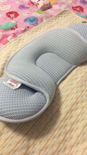 婴儿枕头0-1岁定型枕防偏头宝宝婴幼儿枕头新生儿矫正纠正偏头 (隔尿垫)粉色 晒单图
