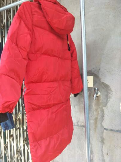 巧町(QIAODING) 童装儿童羽绒服加厚中长款女童男童白鸭绒宝宝休闲运动加厚外套冬装 红色 120码建议身高110cm 晒单图