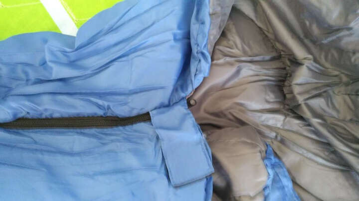 狼行者 户外睡袋 登山露营保暖防寒拼接单人信封式加厚棉睡袋 1.65kg家居款-蓝色 晒单图