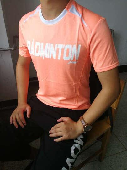 李宁(LI-NING) 李宁羽毛球服装男女款套装训练运动短袖T恤轻薄系列ATSK553 ATSK549-1橙 L 晒单图