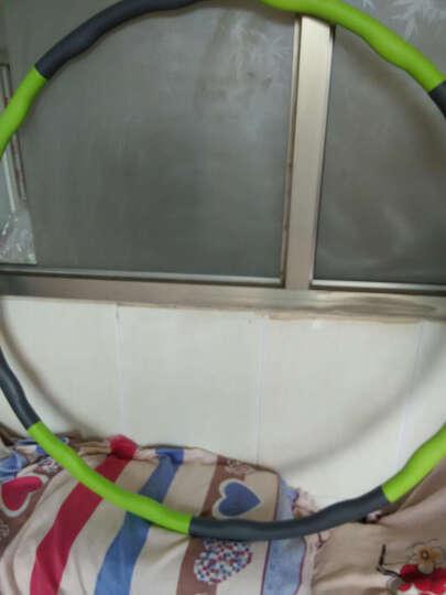 呼啦圈瘦腰女成人减肥圈收腹海绵可拆卸可加重健身圈儿童呼拉圈 草木绿-泡棉款8节-送跳绳 晒单图