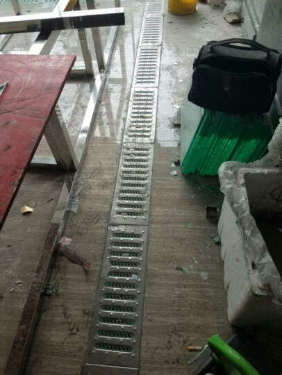 不锈钢厨房盖板地沟排水沟304不锈钢格栅下水道水篦子水槽防滑板 304/39.5cm/2mm/米 晒单图