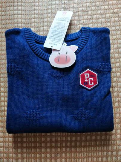 小猪班纳(PEPCO)儿童毛衣 中大童圆领套头衫男童长袖毛衣潮 115441205 日出红 130 晒单图