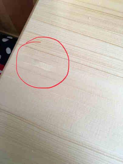 旭宜锦居 实木带书架多功能学习桌松木学生书桌简约写字桌椅组合 无漆全松木书架学习桌 清漆书架学习桌 晒单图