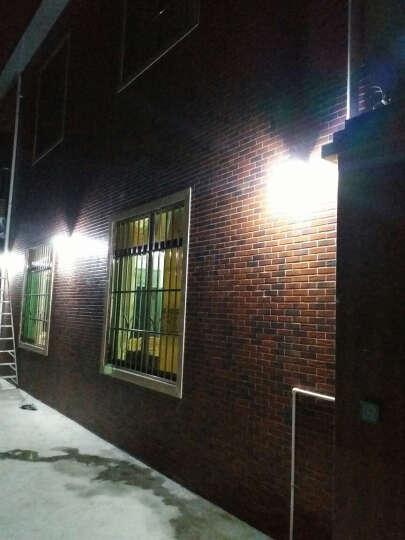 赫曼户外防水壁灯太阳能灯欧式阳台灯饰铁艺复古创意LED走廊过道室外墙壁灯庭院灯具 D款黑色 晒单图