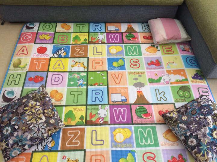 里奥船长婴儿爬行垫加厚爬爬垫泡沫地垫儿童垫子游戏垫 卷发-水果乐园+跳房子180*150*2cm 晒单图