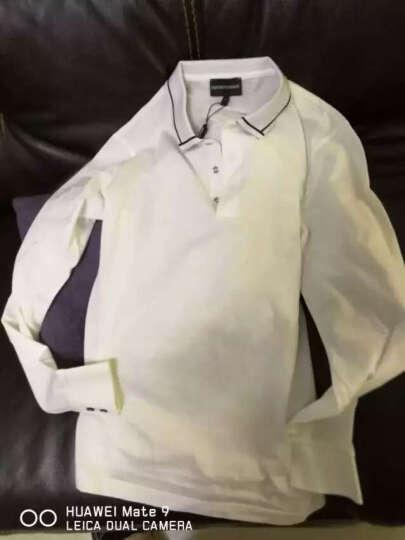 EMPORIO ARMANI 阿玛尼 男款白色棉质长袖POLO衫 CNM29 CF 10 M码 晒单图