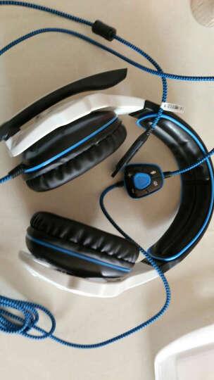 赛德斯(Sades) 附魔暴掠狼 SA-903 头戴式 7.1声道游戏耳机 (白蓝) 晒单图