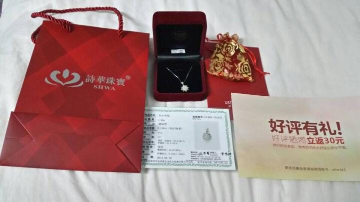 诗华珠宝 绽放 白18K金1克拉效果南非钻石吊坠钻石项链 礼物 3克拉效果38分FG色 预定 晒单图