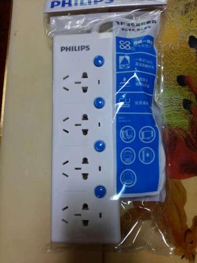飞利浦(PHILIPS) 4孔位1.8米插座插排插线板接线板 节能防火插座板 晒单图