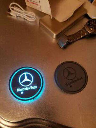 SNBLO 奔驰宝马奥迪丰田专用 七彩发光LED水杯垫防滑垫车载内饰氛围灯 长安CS75欧尚CS35欧诺CX70 发光水杯垫一对价格 晒单图