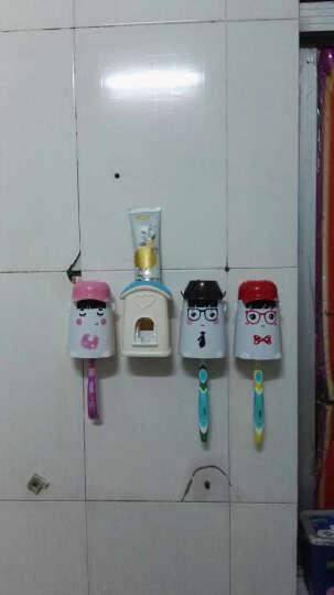 意可可爱情公寓全自动挤牙膏器牙刷架漱口杯套装 漱口杯牙具刷牙杯 爱的小屋3+1蓝色 晒单图