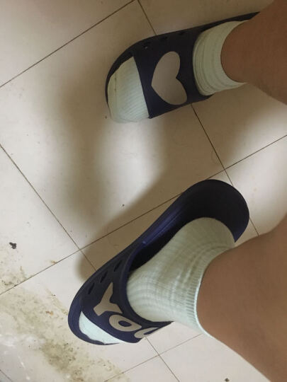 GGGLU亲子拖鞋一家三口浴室拖鞋居家简约软底沙滩洗澡凉拖鞋男款1701蓝色44码 晒单图
