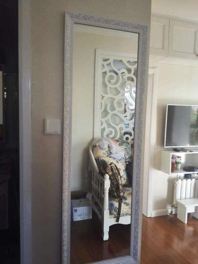 YISHARE 欧式试衣镜穿衣镜全身镜壁挂服装店镜子z03卧室实木落地镜 白底银丝壁挂 150*50cm 晒单图