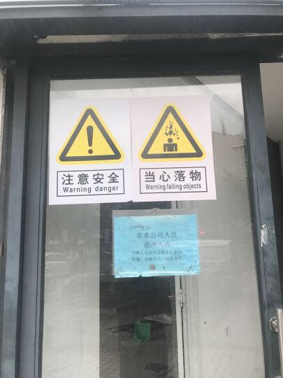安全严禁违章操作工地 建筑 工厂标牌安全警示贴牌 白底黑字一张 约20*30cm 晒单图