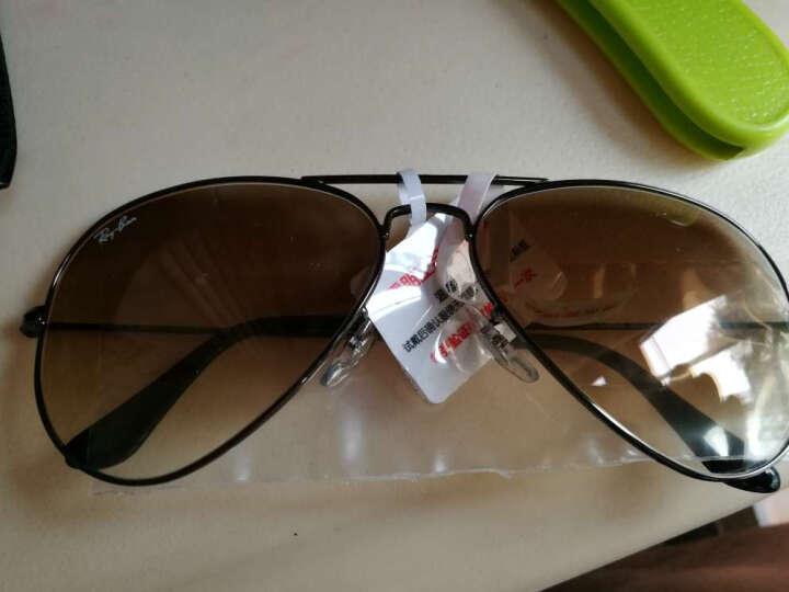 Ray-Ban 雷朋 意大利进口飞行员系列枪色镜框茶色渐变镜片眼镜太阳镜RB 3025 004/51 58mm 晒单图
