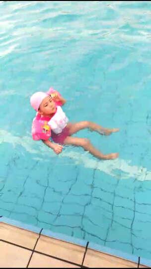 佑游 儿童泳衣 女孩公主连体裙式可爱宝宝中大童男童泡温泉游泳衣浮力泳衣 蓝色青蛙 L  100-110cm 晒单图