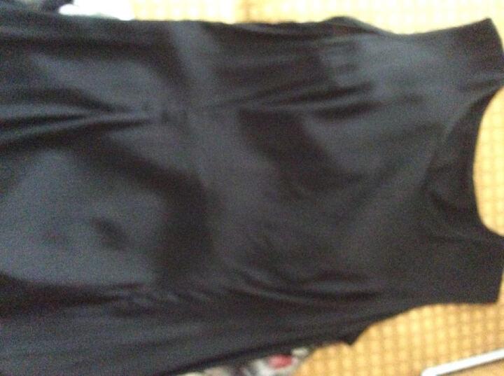 衣典零一 桑蚕丝真丝连衣裙2018夏装新款大码女装夏季修身两件套印花连衣裙套装裙背心裙子 单件披肩(绿色) L 晒单图