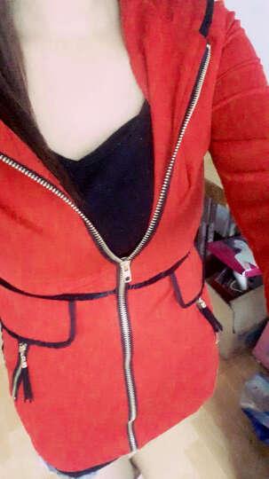 果茜短外套女2019春季装新款外套韩版女装双面穿开衫小外套棒球服风衣女短款129 147酒红色 L 晒单图