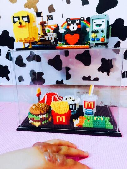 小颗粒拼装钻石积木微型拼插益智休闲玩具我的世界麦当劳汉堡薯条寿司套餐组装收藏新年创意礼物 麦当劳B套餐(加展示盒) 晒单图