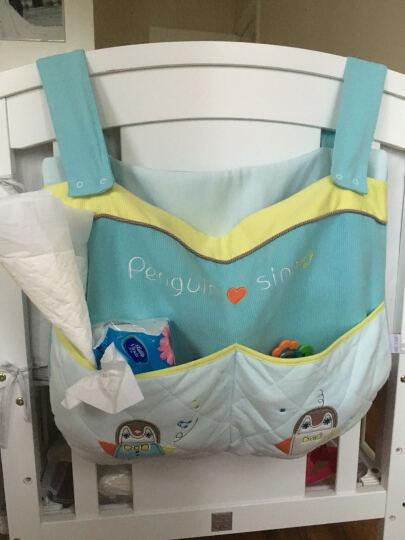 AUSTTBABY婴儿床挂袋 床上尿布收纳袋尿不湿袋子床头储物袋床包新生儿用品 维多利亚 晒单图