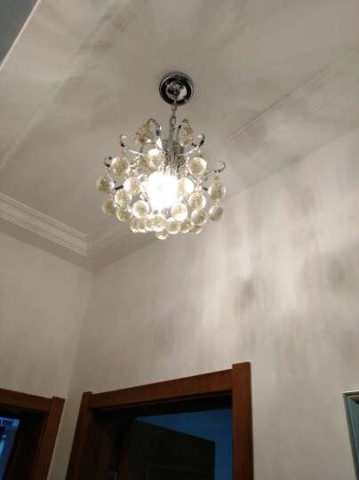 波西尔 餐厅水晶吊灯 卧室灯 客厅LED灯饰 玄关灯 吧台灯具 8076 直径40cm 干邑色水晶 带变光LED灯泡 暖光4w/白光4w/中性光8w 晒单图
