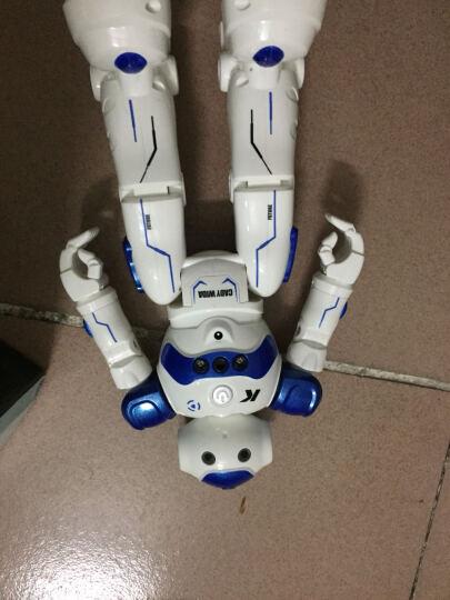 JJR/C 铠甲勇士奥特曼跳舞电动遥控智能红外遥控机器人玩具儿童礼物 凯迪威达(蓝色) 晒单图