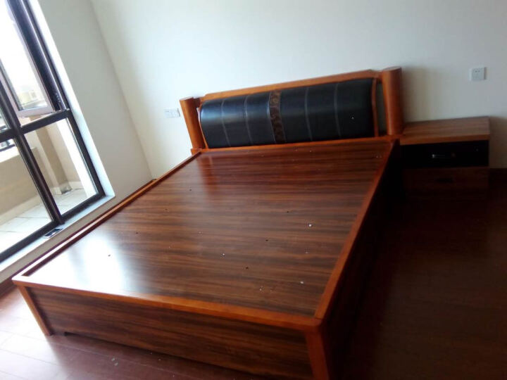 LAGO  中式实木床头柜 储物柜 现代卧室床边柜 收纳柜 6B01 浅胡桃木色 晒单图