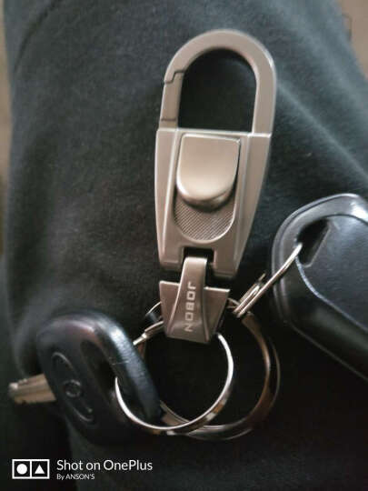 JOBON中邦双匙圈便捷摘取腰挂式钥匙圈汽车钥匙扣圈ZB-070蓝色 创意礼品生日礼物 晒单图