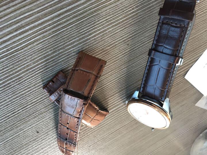 【仓库配送】欧格利(Aurgelly)手表真皮表带男皮表带手表配件男士表带 适用多品牌 送工具 啡色皮带-22mm 晒单图