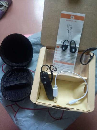 UCOMX U2 蓝牙耳机超长待机防水无线商务迷你车载运动挂耳式适用于苹果7OPPO 银色 晒单图