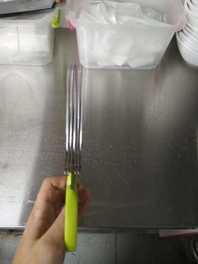 创意不锈钢厨房多层剪刀 葱花紫菜寿司剪 蔬菜面条碎纸剪刀 绿色 晒单图