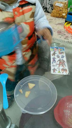 萌碎儿童碗创意简约可爱宝宝吃饭碗汤碗小孩保温餐具防摔带盖子辅食碗卡通简约家居餐具用具 大号【蓝】550ml 晒单图