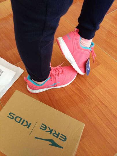 鸿星尔克 ERKE 儿童运动鞋 舒适耐磨儿童综训鞋 63117114072 西瓜红/浅耀蓝 37 晒单图