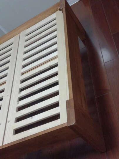 华谊 实木床 双人床1.8米 单人床1.5米 美式乡村北欧式白橡木结婚大床 1.8米仿古色高铺板(清漆) 晒单图