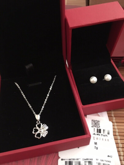 明牌珠宝 铂金项链 PT950 简约O字链  白金项链 锁骨链女款 BFR0024 铂金项链 42厘米 约2.44克 晒单图